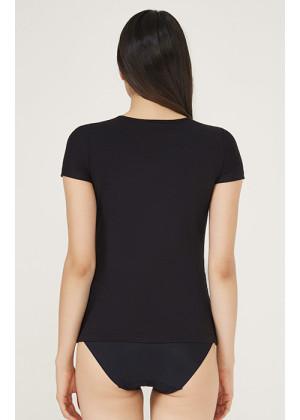 T-Shirt Body Korse / Siyah