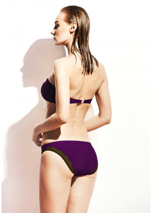 Tül Degajeli Bikini / Mor