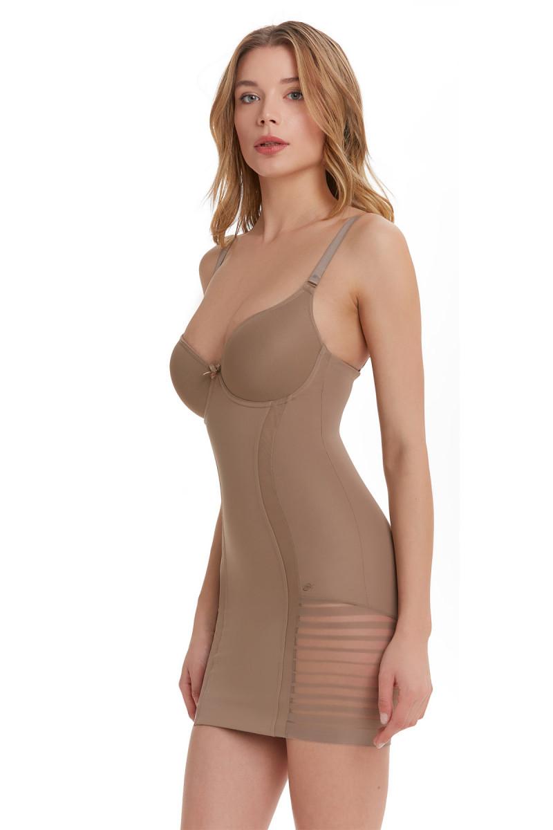Elbise Korse / Tüm Gün Giyilebilir / Vizon