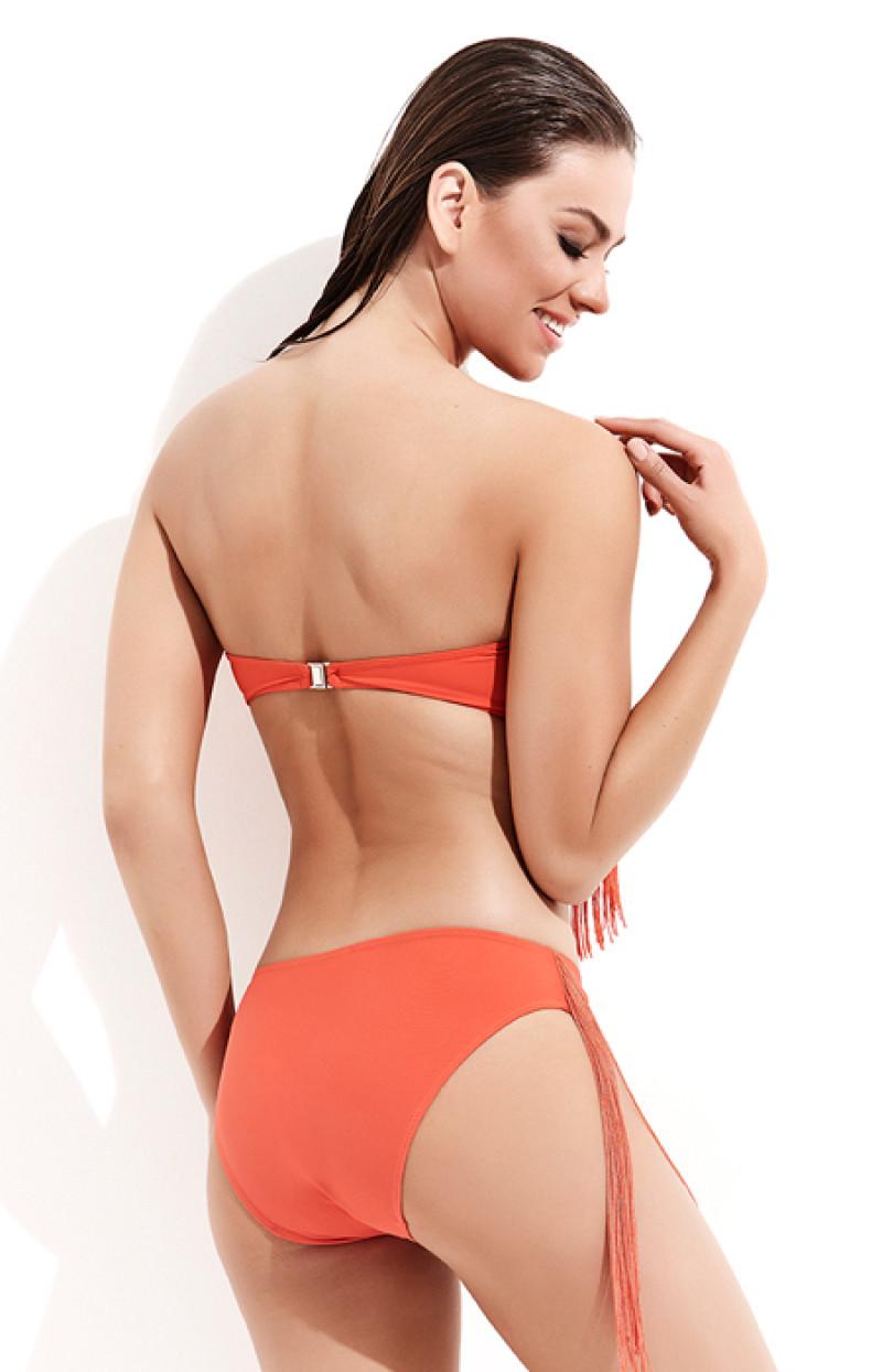 Staplez Püsküllü Bikini / Mercan